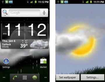 Weather Window Live Wallpaper for Android Phones
