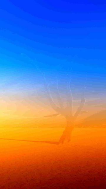 Blue and Orange scenery iPhone 5 wallpapers Background and Wallpapers