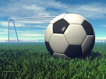 sport football goal grass game ball kick sports 3d wallpaper