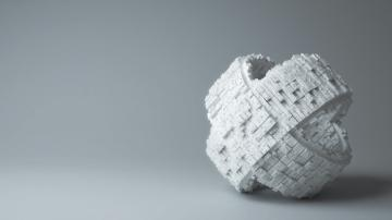 White Puzzle Piece 3D Background Wallpaper