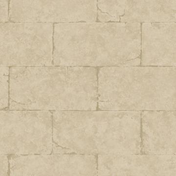 Brown Sandstone Block Wall Wallpaper   Wall Sticker Outlet