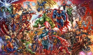 Of Marvel And DC Characters Computer Wallpapers Desktop Backgrounds