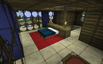 Sunset Point Bedroom by kyidyl minecraft