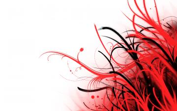 Abstract Wallpaper Red and White by PhoenixRising23