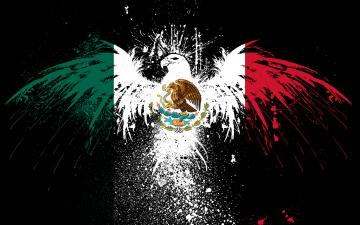 Symbol Wallpaper 1920x1200 Splash Symbol Eagles Flags Mexico