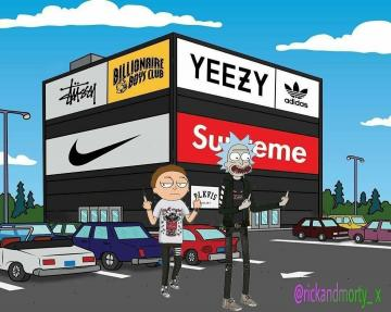 Rick and Morty x Supreme Rick and morty poster Rick and morty