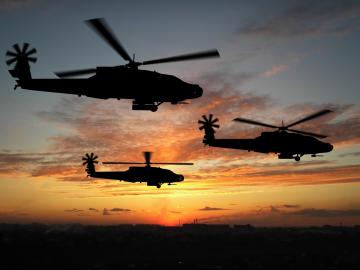 Apache Helicopters Sunset HD Wallpapers Desktop Wallpapers