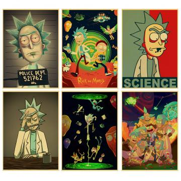 Rick and Morty Anime retro Poster Vintage Print Cartoon Picture
