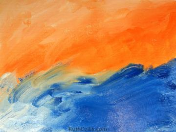 Orange Blue Abstract Wallpaper   wwwRuthColliscom