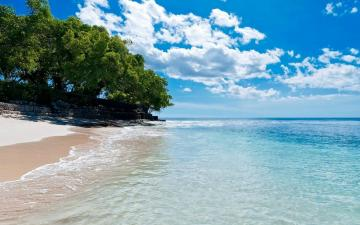 1920x1200 Caribbean Beach Turquoise Lake desktop PC and Mac wallpaper