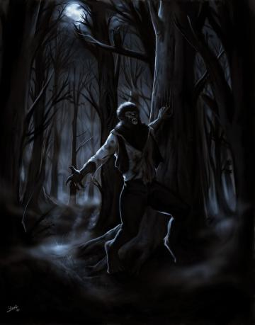 The Wolfman speed painting by FrankCP