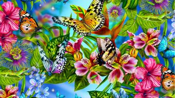 Abstract Butterfly Wallpapers HD Wallpaper