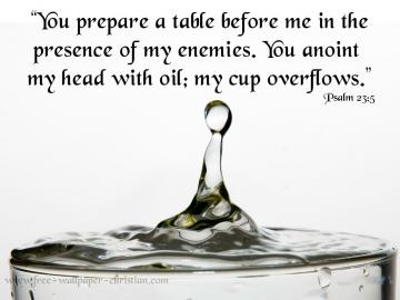 Psalm 23 5 Wallpaper Psalm 23 5 Papel de Parede