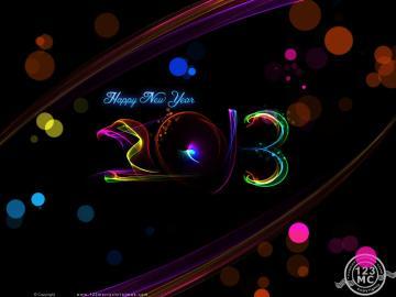 Happy New Year 2013 Wallpapers Desktop Backgrounds eCard