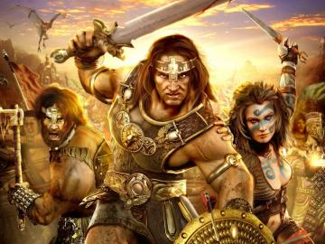Conan   Barbarians wallpapers Age of Conan   Barbarians stock photos