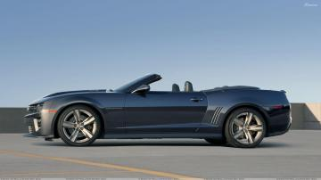 Side Pose Of 2013 Chevrolet Camaro ZL1 Convertible In Grey Wallpaper