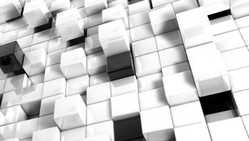 3d view abstract black white blocks cgi cubes backgrounds 3d Wallpaper