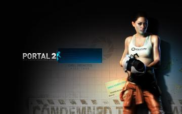 Portal 2 Chell Wallpaper LOLd Wallpaper   Funny Pictures   Funny