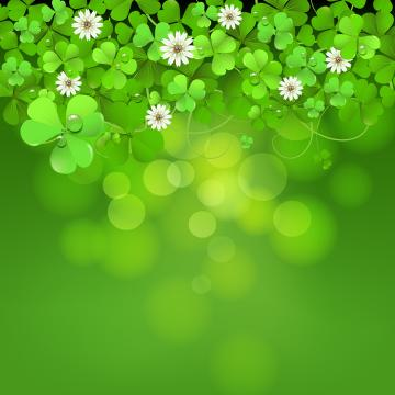 Shamrock Vector Download Clover plexus background