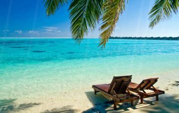 Summer Beach Four Seasons Tropical Beach Bright Water Turquoise Lake