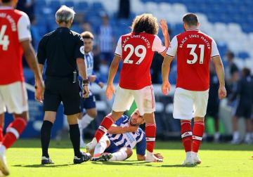 Arsenal vs Brighton Fight during the match not after