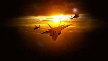 F22 Wallpaper Sunset F 22 at sunset