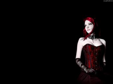 Gothic Girl Wallpaper   Red Gothic Girl Wallpaper Scary Wallpapers