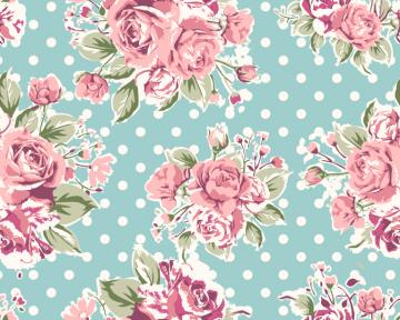 Rose Pattern Background 2 Vector Graphic Download