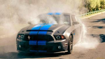 Black Mustang Burnout Wallpaper Wallpaper WallpaperLepi