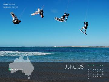 June Kiteboard Wallpaper from around OZ get yours   Kitesurfing