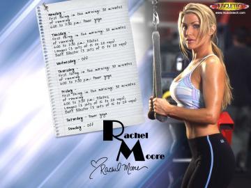 Celebrities Girls Rachel Leah Moore Female Fitness Model Wallpaper