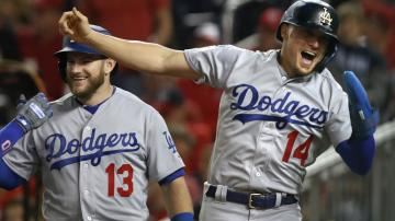 Big 6th inning lifts Dodgers past Nationals 10 4 for NLDS lead 8News