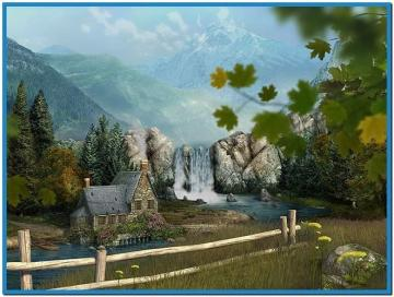 Mountain waterfall 3d screensaver and animated wallpaper   Download