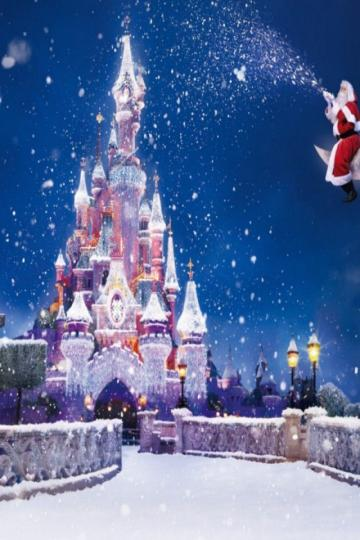 Download HD Disney Castle Christmas Wallpaper iPhone Wallpapers