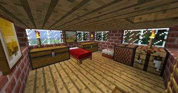Minecraft Bedroom 2nd floor by Ceej95