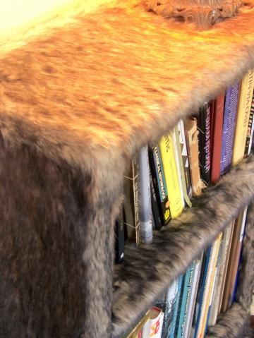 faux fur bookshelf by modern art design 225x300 1 furry faux fur