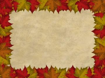 Autumn Leaves Border 2 Autumn leaves border on a parchment background