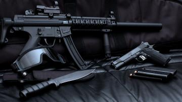 Sniper Gun Pistol Ammo Collection Wallpaper   StylishHDWallpapers