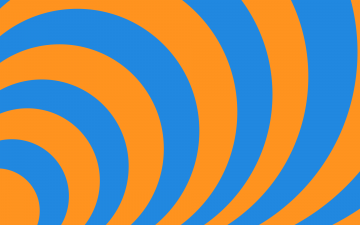 Concentric   Orange and Blue by ts2master