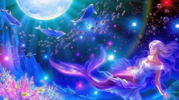 All new wallpaper Mermaid moon fantasy widescreen hd wallpaper
