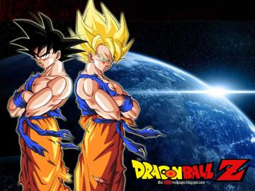 Goku Normal Mode and Super Saiyan   All About Dragon Ball Wallpapers