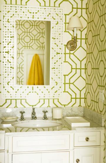 Stunning Trellis Wallpaper Ballard Designs Decorating Ideas Gallery in