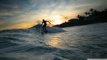 Surfer Silhouette Wallpaper 1920x1080 Surfer Silhouette