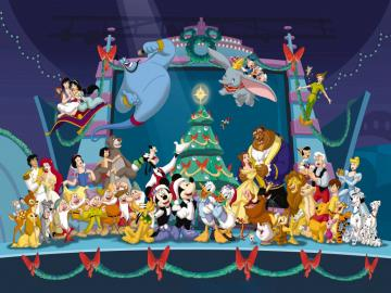 Disney Characters Christmas Wallpaper   Christmas Cartoon
