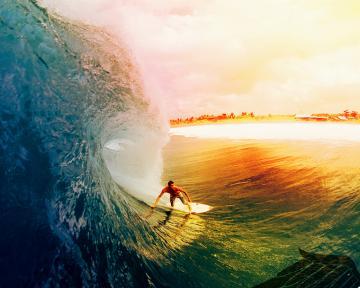 Top Girls Surfing Beautiful Sunset Wallpapers