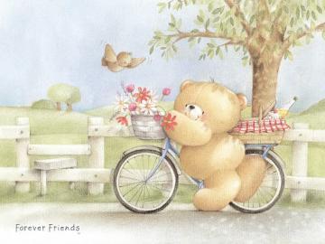 forever friends wallpaper British Summer Bike 1024x768jpg