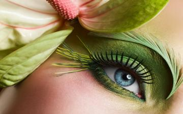 Beautiful Blue Eyes Green Makeup HD Wallpaper HD Latest Wallpapers