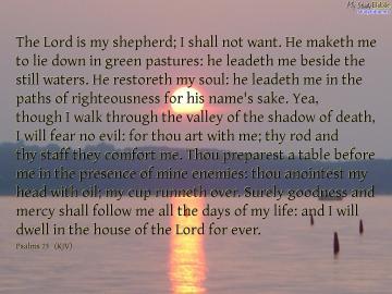 christian wallpaper of Psalms 23   Make Christian wallpaper and
