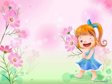 Wallpaper   Cartoon wallpaper   Vector childhood 1 wallpaper