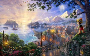 Pinocchio Walt Disney hd wallpaper background HD Wallpapers